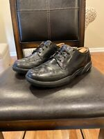 Dr Comfort Eric Mens Black Leather Lace Up Comfort Shoes Size 10 Wide