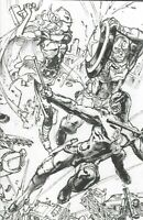 Civil War II Comic 3 Cover C Connecting Sketch Variant Kim Jung Gi 2016 Bendis