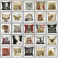 """Vintage Tapestry Cushion Cover Chenille Woven Scatter Velvet Case Size 18"""" X 18"""""""