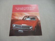 1970's DATSUN 1200 BERLINE Catalogue Brochure Prospekt Dépliant French