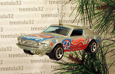 Peace Sign 1968 FORD MUSTANG Fastback '68 Silver/Gr CHRISTMAS TREE ORNAMENT XMAS