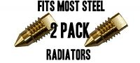 Radiator BLEED SCREW AIR / VALVE VENT FITS MOST STEEL RADIATORS BRASS 2 PACK