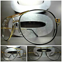 Men or Women VINTAGE RETRO Style Clear Lens FASHION EYE GLASSES Small Gold Frame