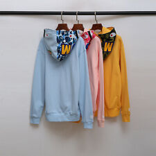 Brand APE Fashion Sweatershirts Shark Hoodies Unisex High Street Zipper Coats