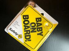"""Safety 1st """"Baby On Board"""" Sign 1, Yellow"""