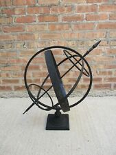 Metal Iron Arrow Armillary Sphere Navigation Sundial Rustic Garden & Yard Art