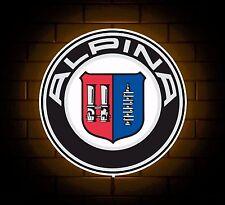 ALPINA BMW badge sign LED Luce Scatola Man Grotta Garage Officina SALA GIOCHI BAMBINO REGALO