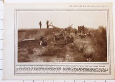 1915 WWI WW1 PRINT TYPICAL BATTERY SPECIAL GUNS AGAINST AIRCRAFT PARIS DEFENCES