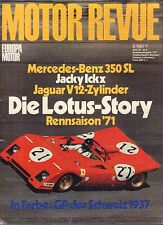 Motor Revue Summer 1971 Mercedes-Benz, Jaguar German Auto Magazine 051617nonDBE
