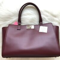 Kate Spade Kelsey Tote Orchard Valley Smooth NWT Cherrywood Leather
