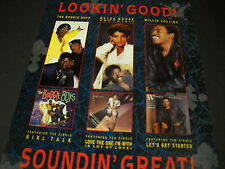 Boogie Boys Melba Moore and Willie Collins Lookin' Good! 1986 Promo Display Ad