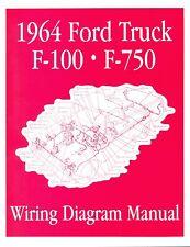 1964 FORD F100-F750 TRUCK WIRING  MANUAL
