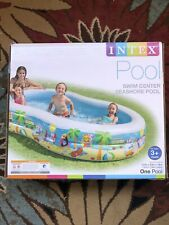 New listing Intex Swim Center Paradise Inflatable Swimming Pool 103x63x18 Inch for (Ages 3+)