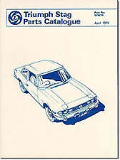 Triumph Stag Parts Catalogue: Parts Catalogue: Part No. 519579, Very Good Books