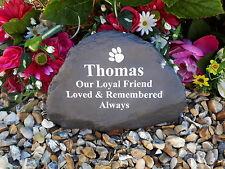 Pet Memorial - Garden Rock (Stone Effect) Personalised - Weatherproof - Large