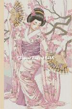 Cross stitch chart Oriental Lady - No. 274 - flowerpower37-uk-.free uk P&p
