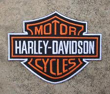 Großes Harley-Davidson Patch - Bügelbild/Aufnäher 14 x 10,8 cm  Neu