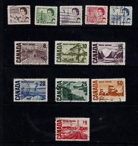 Canada Postage Stamps 1967 Centenary Set Used Clean Stamps (12v)
