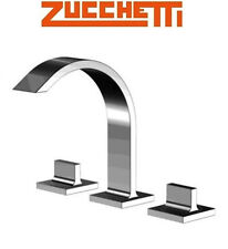 "Zucchetti ""Aguablu"" ZA5652 Widespread Basin/Bidet Mixer w/Pop-up Waste Set NIB"