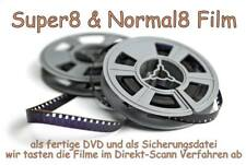 Super8 Film auf DVD DIGITALISIEREN Kopieren 120 Meter / 30min