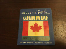 Canada Souvenir Decal Travel Transfer, Fort Macleod, Alta. Vintage Sticker