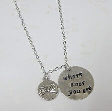 Where Ever You Are Necklace, Friendship Necklace, BFF Jewelry, Pinky Promise