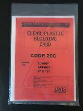 "JAVIS 9x12 20/000"" CLEAR PLASTIC BUILDING CARD PLASTIC SHEET RAILWAY DIORAMA 20C"