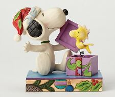 Peanuts A Christmas Surprise (Snoopy & Woodstock) by Jim Shore NEW  27406
