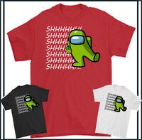 Impostor T-Shirt Parmi US Shhhh Jeux Joueur Hommes Enfants Garçons Haut Unisexe