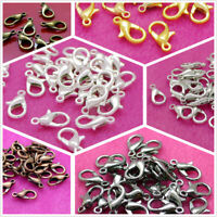 100x Silver/Gold Plated Alloy Lobster Clasp Hook Connector Jewellery Findings Bu