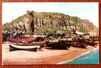 The Beach and East Hill, Hastings. A Salmon Post Card