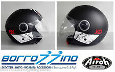 CASCO AIROH URBAN JET MALIBU PANZER BLACK MATT - NERO OPACO COD. MAP35 TG. XL