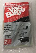 Home Care Type K Hoover Spirit vacuum Bags No. 57 Brand New / 2 Bags Each Pack