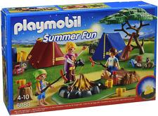 Playmobil 6888 campamento con LED Fogata