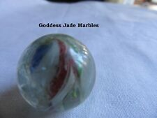 "Antique Hand Made Marble 1800's 27/32"" Goddess Jade Marbles"