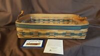 Longaberger 1996 COLLECTORS CLUB Small SERVING TRAY #12629 Plastic Protector