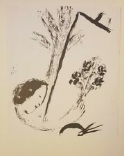Orig Color Lithograph MARC CHAGALL Illus. Lassaigne BOUQUET WITH HAND Unframed
