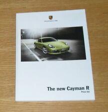 Anleitungen & Handbcher Porsche Cayman R Hardback Brochure 2010 ...