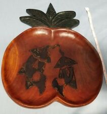 Vintage wood pineapple shaped Philippines? home decor catch-all