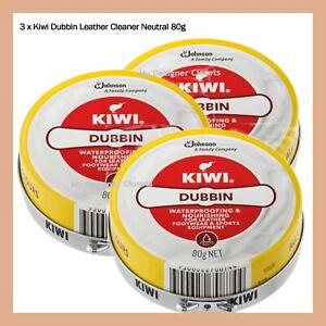 3x Kiwi Dubbin Leather Cleaner Neutral 80g MDC