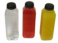 Empty Clear Plastic Juice Bottles Milk Bottles Food Grade BPA FREE with Black Ta