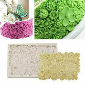 Floral Silicone Cake Baking Mold Flower Fondant Decorating Border Mould Tool Set