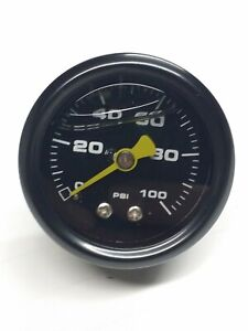 "0-100 psi Fuel Oil Water Pressure 1.5"" Black Liquid Guage"