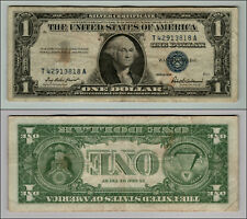 1957 ONE Dollar BILL Silver Certificate Note Blue Seal  LOT J677