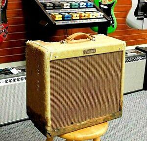 "Vintage 1956 Fender Princeton Tweed Model 5F2 1x8"" Narrow Panel Amp! NO RESERVE!"