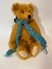 "Vintage 1986  Sharon July 9"""" handmade cinnamon color Mohair Jointed teddy bear"