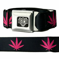 Buckle Down Mens Seatbelt Belt Weed Regular