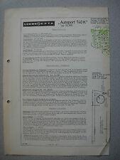 LOEWE OPTA Typ 62365 Autoport T 40 K Service Manual, Stand 12/64