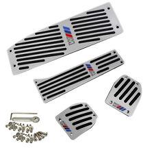 Für BMW E30 E36 E46 E87 E90 E91 E92 E93 M3 Silber Fußstütze Pedale Pedal Set DE