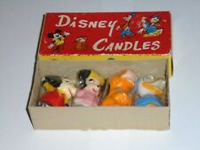 WALT DISNEY Candles X 4 SEALED IN BOX Mickey Mouse Donald Duck Vintage Disneyana